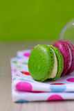 Macaroon in the bank Royalty Free Stock Image