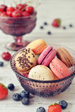Macaroon with berries Royalty Free Stock Image