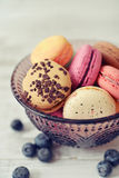 Macaroon with berries Royalty Free Stock Images