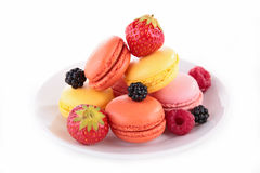 Macaroon and berry fruit Royalty Free Stock Photo