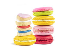 Macaroon and biscuit isolated Stock Images