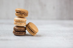 Macaroon biscuits with copy space. Homemade macaroon biscuits with copy space Royalty Free Stock Photo