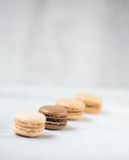 Macaroon biscuits with copy space Stock Photo