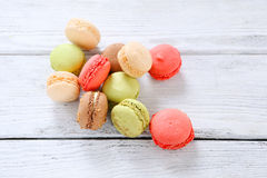 Macaroon on the boards Stock Photography