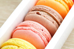 Macaroon in box Royalty Free Stock Images