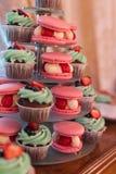 Macaroon and cake Stock Photos