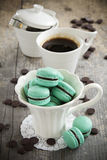 Macaroon with chocolate Stock Images