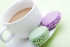 Macaroon and coffee Stock Photos