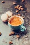 Macaroon and Coffee. Stock Photography