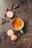 Macaroon and Coffee. Stock Photos