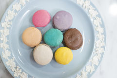 Macaroon Color. Pink Yellow White Brown Macaroon Color Royalty Free Stock Photo
