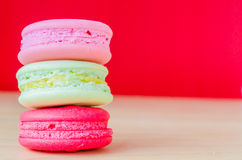 Macaroon. Colorful macaroon with color background Royalty Free Stock Images
