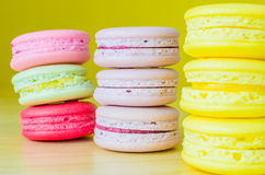 Macaroon. Colorful macaroon with color background Stock Images