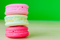 Macaroon. Colorful macaroon with color background Royalty Free Stock Image