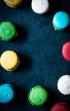 Macaroon cookies frame Royalty Free Stock Photography