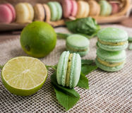 Macaroon cookies Stock Photo