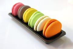 Macaroon cookies in macro. Stock Photos