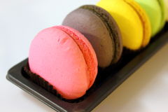Macaroon cookies in macro. Stock Photos