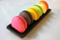 Macaroon cookies in macro. Stock Images