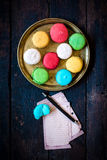 Macaroon cookies time Royalty Free Stock Photos