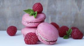 Macaroon, Dessert, Strawberry, Frozen Dessert Royalty Free Stock Photos