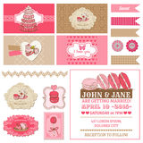 Macaroon and Desserts Party Set Stock Photo
