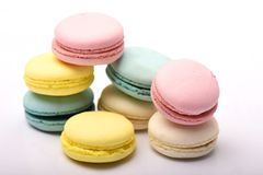 Macaroon foods. And white background shot Stock Image