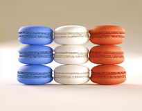 Macaroon French Flag Royalty Free Stock Photos
