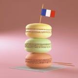 Macaroon French Flag Stock Photos