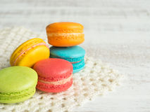 Macaroon. Macaron or macaroon  is dessert originated from France Royalty Free Stock Photos