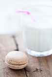 Macaroon and milk Royalty Free Stock Photo