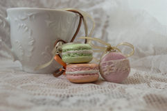 Macaroon Necklace. Photographing some handmade Macaroon Necklace Stock Photos