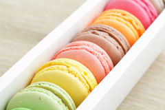 Macaroon in paper box Stock Photo