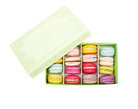 Macaroon in  paper box Royalty Free Stock Photography