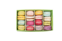 Macaroon in paper box Royalty Free Stock Photos