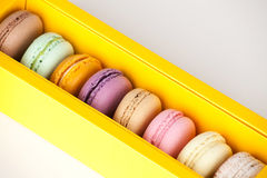 Macaroon in paper box Royalty Free Stock Images