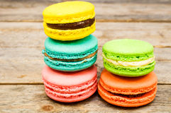 Macaroon pastry set Royalty Free Stock Images