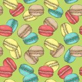 Macaroon pattern 24 Stock Photography