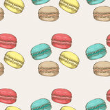 Macaroon pattern 22 Royalty Free Stock Photos
