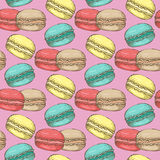 Macaroon pattern 23 Stock Images