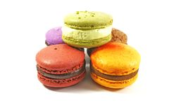 Macaroon pile Stock Photo