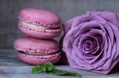 Macaroon, Pink, Sweetness, Magenta Stock Photo