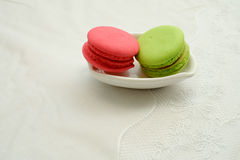 Macaroon in the plate Royalty Free Stock Photography