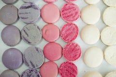 Macaroon Prepare 02. White Pink Violet Macaroon Prepare Stock Photos