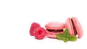 Macaroon and raspberry Royalty Free Stock Photography