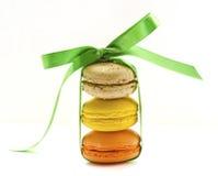 Macaroon with ribbon Stock Photo