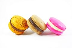 Macaroon row Royalty Free Stock Images