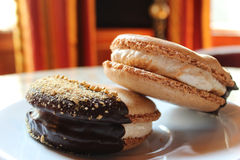 Macaroon S'more μπισκότα Στοκ φωτογραφία με δικαίωμα ελεύθερης χρήσης