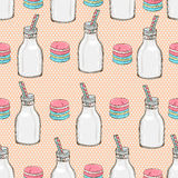 Macaroon seamless pattern royalty free illustration