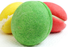 A macaroon at shallow depth of focus Royalty Free Stock Image